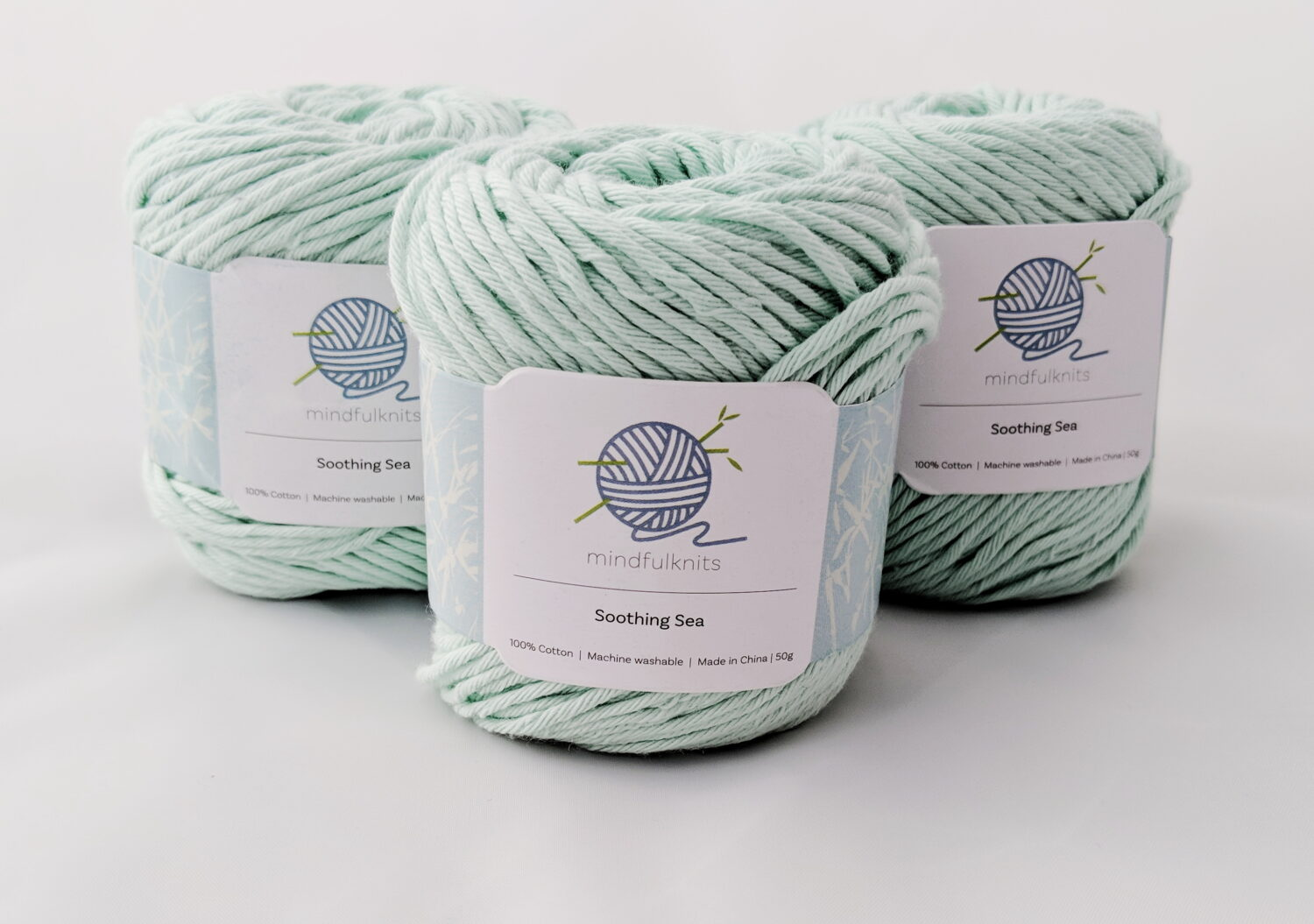 Mindfulknits 100% Cotton Yarns in Knitting kits for beginner's